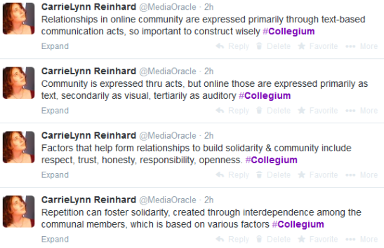 Collegium Tweets 3