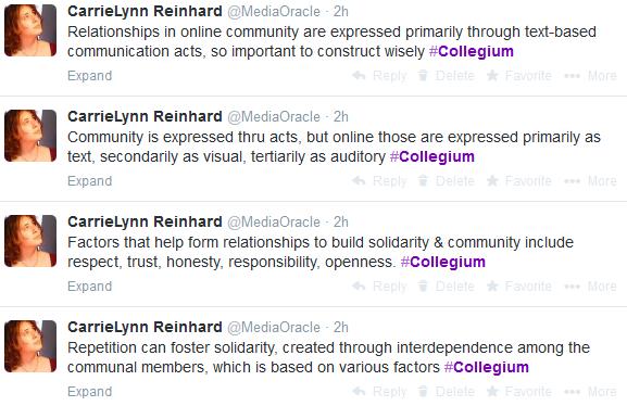 Collegium Tweets 3