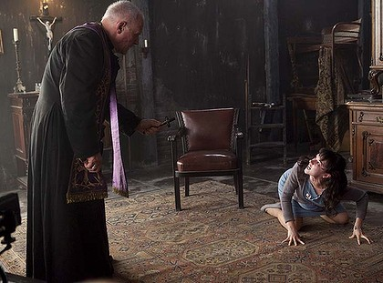 Sir Anthony Hopkins Performs an Exorcism in The Rite