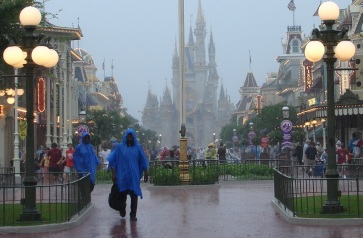 Not the happiest place on Earth in the rain.